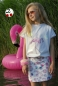 "Preview: Jersey ""Flappy Flamingo"" Rapport Bio-Baumwolle Panel & Kombistoff"