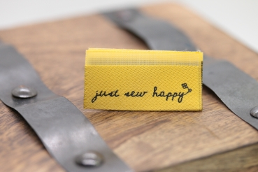 "Label-Set ""just sew happy"" 3 Stück"